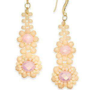 Inc International Concepts Gold-Tone Pink Beaded F